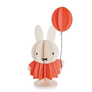 LOVI süßer Holz-Miffiy mit Ballon zum Selbstaufbauen und Bemalen - Lovi