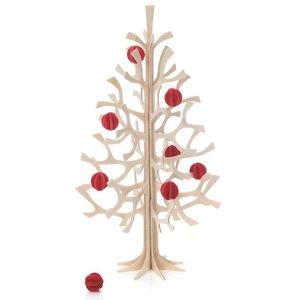 LOVI DIY Holz-Weihnachtsbaum mit Kugeln (30 cm) - Lovi