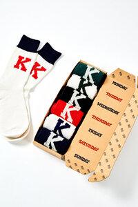 Socken Box 7er Pack - Sock Koi Box - Off White Multi - Kings Of Indigo