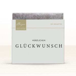 Edelbitter Schokolade ' Herzlichen Glückwunsch' Berger - 70g - Berger Confiserie