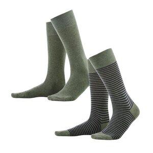 Living Crafts 2er Pack Socken Arni olive/indigo melange - Living Crafts