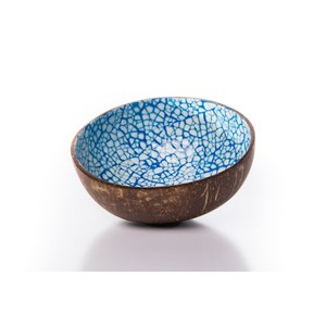 Kokosnussschale mit Mosaik aus Eierschalen - Bea Mely