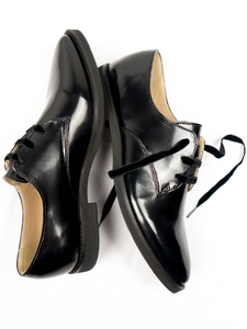 Luxe Derbys Patent Black Frauen - Will's Vegan Shop