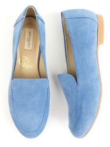 Loafer Blau Veganes Wildleder Damen - Will's Vegan Shop