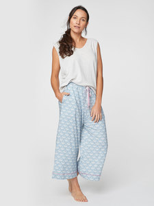 Pyjama - Art Deco PJ Trousers - Blau - Thought