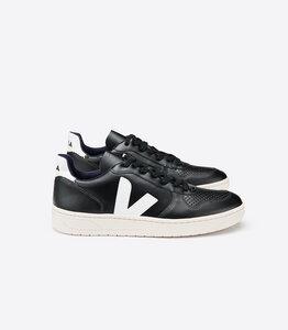 Sneaker Damen - V10 - Leather Black White - Veja