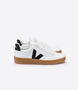 Sneaker Herren - V-12 Leather - Extra White Black Natural Sole - Veja