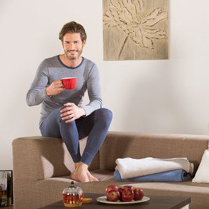 Living Crafts Herren Unterhemd langarm Harvey Bio-Wolle/Seide - Living Crafts