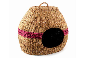 Katzenkorb aus Hogla-Gras rund, Fairtrade - El Puente