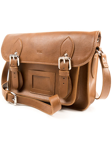 11-Zoll-Satchel Kastanie Unisex - Will's Vegan Shop