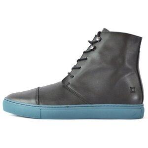 '90 Leder Boots Black / Blue - SORBAS
