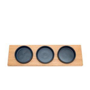 Servierschalen mit Holztablett - klotzaufklotz