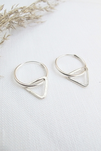 Silber Ohrringe - Geometric hoops - Sterling Silver - Wild Fawn Jewellery