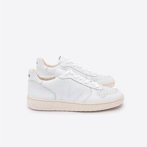 Sneaker Damen - V-10 Leather - Extra White - Veja