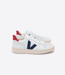 Sneaker Damen - V-10 Leather - Extra White Nautico Pekin - Veja