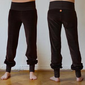 Damen Wohlfühl- und Yogahose aus Nicki dunkelbraun - Cmig