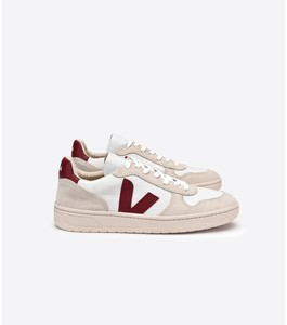Sneaker Damen - V-10  B-Mesh - White Natural Marsala - Veja