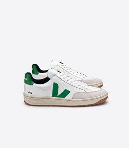 Sneaker Damen - V-12 B-Mesh White Emeraude  - Veja