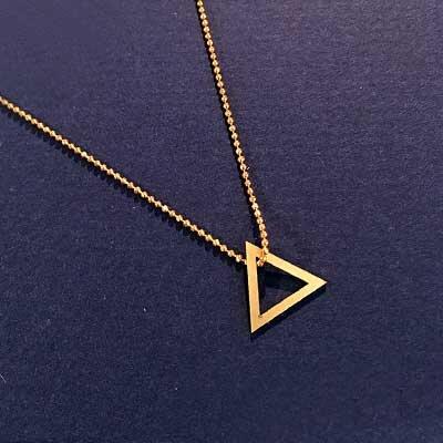 Halskette Dreieck