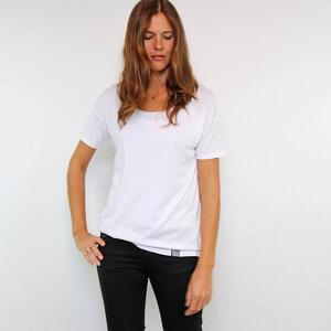 Oversize Shirt Weiß aus Tencel®-Mix - Gary Mash