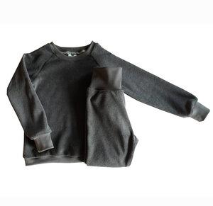 Kinder Frottee Schlafanzug Bio Baumwolle antrazit - betus