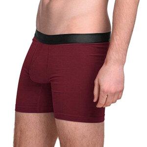 6er Pack Boxershort aus Modal Unterhose schwarz-bordeaux - ege organics