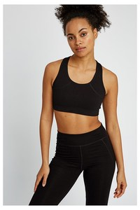 Sport BH - Yoga Crop Top - black - People Tree