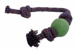 Wurfspielzeug BecoBall mit Seil in verschiedenen Farben - BecoPets
