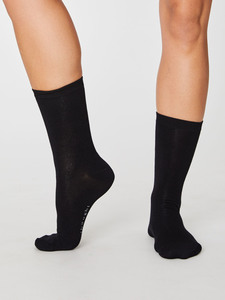 Solid Jackie Sustainable Bamboo Socks                        - Thought