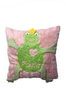 Personalisierte Kuschelkissen 'Frosch'. - PAT & PATTY