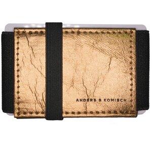 Kleines Portemonnaie Geldbeutel Geldbörse A&K MINI - gold +Farbe - ANDERS & KOMISCH