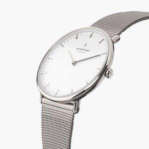 Armbanduhr NativeSilber - Mesharmband Silber - Nordgreen Copenhagen