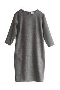 Egg-Shape Kleid aus Wollmix - Grau - LUXAA