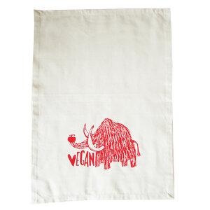 Bio Geschirrtuch Vegan Mammut, Handsiebdruck - Cherry Bomb