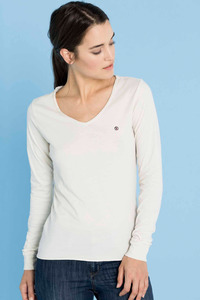 Longsleeve Basic Hanna white  - SHIRTS FOR LIFE