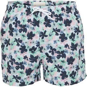 Badehose - Swim shorts with flower print - Skyway - KnowledgeCotton Apparel