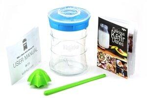 Kefirko-Glassystem (848 ml) zur Herstellung von Kefir (Milchkefir, Wasserkefir) - Kefirko