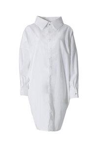 Statement Kleid aus Bio-Baumwolle - Weiß - LUXAA