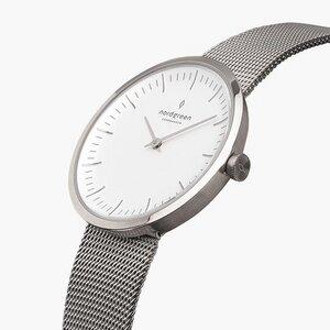 Armbanduhr Infinity Silber - Mesharmband Silber - Nordgreen Copenhagen