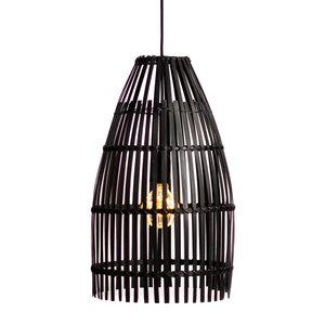 Bambus Lampe Bambu, schwarz - atisan