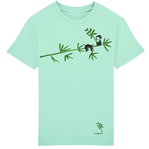 Kinder T-Shirt Faultier Mint Bio Fair - FellHerz