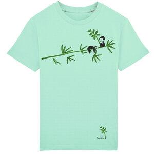 Kinder T-Shirt Faultier Mint Bio Fair - FellHerz