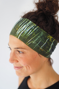 Recycelt Yoga Stirnband / Workout Headband / AUTUMN FOREST - Arctic Flamingo
