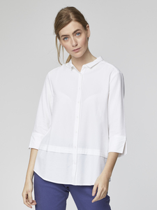 Bluse - Quinn Shirt – Weiß - Thought