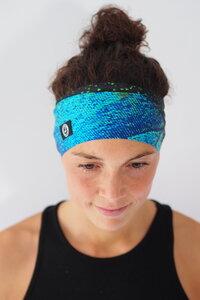 Recycelt Yoga Stirnband / Workout Headband / GOA BUTTERFLY - Arctic Flamingo