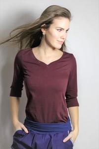 in 3 Farben: Bio 3/4 Arm-Shirt 'Winda'  - Frija Omina