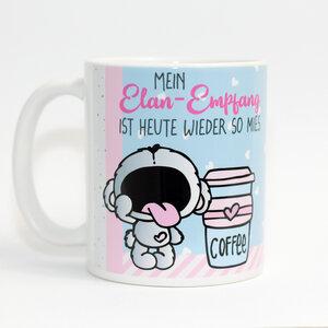 """Hochwertiger Kaffeebecher / Tasse  """"Schrei nach Kaffee"""" - Sternchenwolke"""