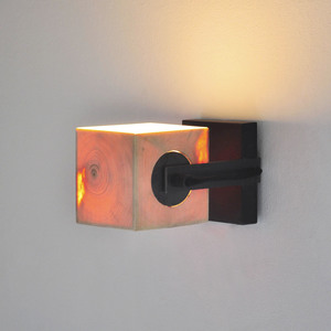 Wandleuchte Z8 aus Holz - exklusives Licht - ALMLEUCHTEN