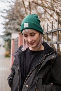 Paperboat Beanie Biobaumwolle / Made in EU dark green - ilovemixtapes