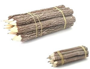 Bleistift aus Holz/Ästen (1 Stück) - fairanda